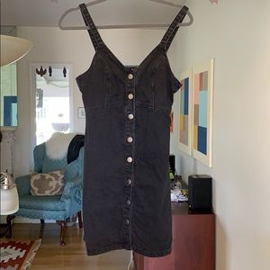 Topshop  black jean dress